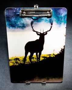 Office Gifts - Custom wood clipboard with Bull Elk photo front and back, best selling Items. On Sale! gifts for hunters, boss gift, man cave by PicturesFromHeaven on Etsy