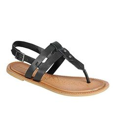 Look at this #zulilyfind! Black Impart Sandal by Bamboo #zulilyfinds