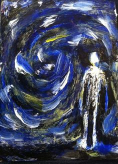 """VOIDED""  abstract,   original art,ACEO  jack larson 3.5""x2.5"" #Abstract"