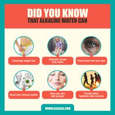 Did You Know that Alkaline Can... | For more info about Alkaline Water: http://www.alkalux.com/knowledge-base/about-alkaline-water.html