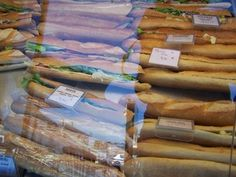 French Baguette sandwiches in Chartres