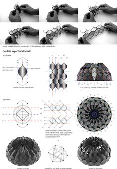 proposing a disaster shelter for refugees, 'weaving a home' by jordanian/canadian designer abeer seikaly is based on temporary huts of nomadic tribes. Folding Architecture, Temporary Architecture, Parametric Architecture, Parametric Design, Concept Architecture, Architecture Drawings, Architecture Design, Green Architecture, Parametrisches Design