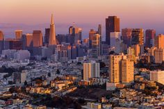San Francisco Hues - Flying over San Francisco during the sunset. The hues... the wind... the light is fantastic, when you are hovering a few hundred meters above the city, getting a bird-eyes view of iconic buildings.