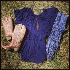 Dress Scarf and Boots