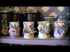 Linnie Blooms DT Project Altered Tin Cans