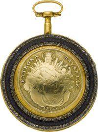 Starožitnosti: Pocket (pre 1900), Mermillon Geneve Fancy Dial Gilt & amp;  Smalt Verge Fusee, circa1770 je.  ...