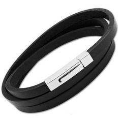 details here: Unique Black Leather Bracelet