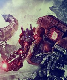 Fall of cybertron on Digital Art Served