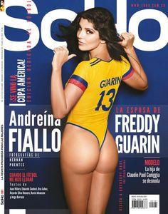 La esposa de Freddy Guarín y la hija de Caniggia en la edición de mayo de @RevistaSoHo. Golazo de @diegogarzonca