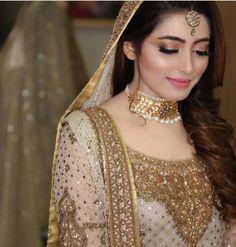 bride and wedding image Pakistani Bridal Makeup, Pakistani Wedding Outfits, Bridal Outfits, Bridal Lehenga, Indian Bridal, Desi Bride, Bride Look, Pakistan Bride, Pakistan Wedding