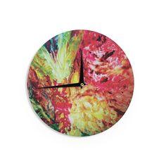 Kess InHouseMary Bateman 'Passion Flowers I' Wall Clock