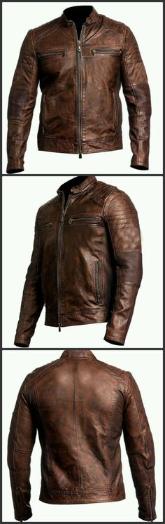 durv-2014 presents outstanding edition in Men's Fashion. Biker Vintage Motorcycle Cafe Racer Brown Distressed Leather Jacket. Made from Real Leather. It's Tremendous Attire to Your Importance. You Can Get Easily this Stylish Jacket from Our Online Store at $78.99 only.