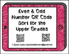 "FREE MATH LESSON - ""Even & Odd QR Code Sort"" - Go to The Best of Teacher Entrepreneurs for this and hundreds of free lessons. 3rd - 6th Grade    #FreeLesson     #Math    http://www.thebestofteacherentrepreneurs.com/2016/07/free-math-lesson-even-odd-qr-code-sort.html"