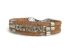 Love cork bracelet Lovers bracelet cork bracelet vegan by Kortici