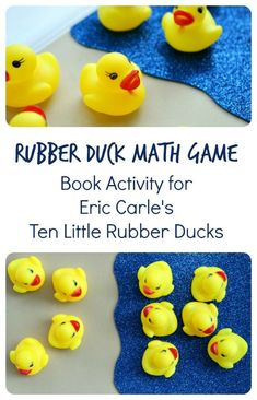 Duck Math Game to go with Ten Little Rubber Ducks Ten Little Rubber Ducks Book Activity~Rubber Duck Math from Fantastic Fun and LearningTen Little Rubber Ducks Book Activity~Rubber Duck Math from Fantastic Fun and Learning Math Activities For Kids, Preschool Books, Math For Kids, Book Activities, Sequencing Activities, Counting Activities, Preschool Ideas, Preschool Seasons, Preschool Math Games