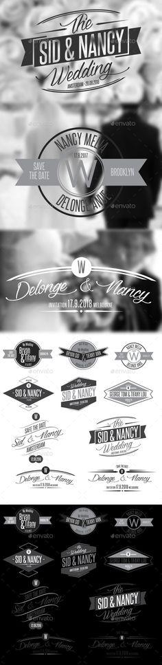 10 Wedding Badges #weddingbadges #badges Download: http://graphicriver.net/item/10-wedding-badges/10563040?ref=ksioks