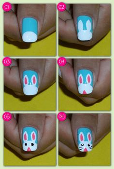 49 best stepstep easter nail art tutorials images in