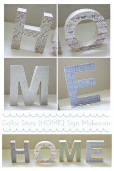 Dollar Store {HOME} Sign :: making it in the mountains