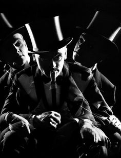 Actor James Cagney. 1930's. multiple exposure photography.
