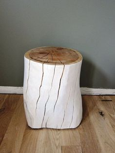 White Oak Tree Stump Stool or Side Table and other furniture & decor products. Tree Stump Furniture, Tree Stump Table, Wood Furniture, Tree Stumps, Wood Stump Side Table, Log Side Table, Tree Logs, Tree Table, White Oak Tree