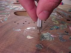 wire inlay in wood