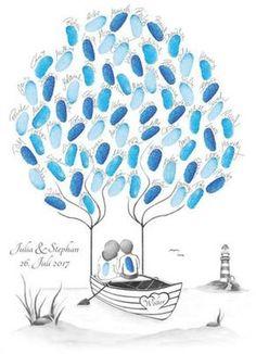 Wedding Tree, Fingerabdruckbaum, Fingerabdruck Baum, Wedding Tree maritim, maritime Hochzeit, Hochzeit maritim, Hochzeit Sylt, Hochzeit Ostsee, Hochzeit Gästebuch, Geschenk zur Hochzeit, personalisiertes Hochzeitsgeschenk