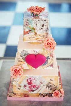 60 Fun And Colorful Rockabilly Wedding Cakes   HappyWedd.com