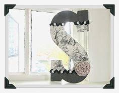 Evally: Decorated Letter  Country Home Decor DIY