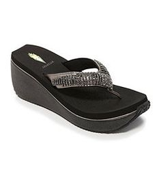 Volatile Fairydust Wedge Sandals