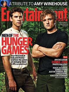 "Gale and Peeta from the ""Hunger Games"" movie. YUM."