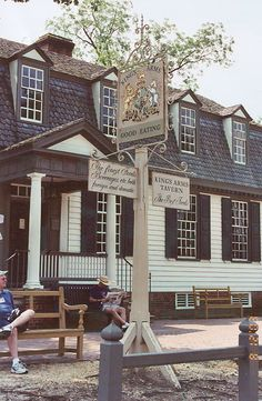 Colonial Williamsburg, Virginia. King's Arms Tavern, Cream of Peanut Soup with Sally Lunn Bread, Tomato Pie......so very good.