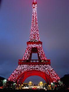 Eiffel tower in Christmas