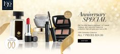 Celebrate avons 130 year anniversary with this offer .7 piece skin care make up and fragrance kit valued at $130 for just $24.99 ! what a deal .message me or you can shop online in my e store youravon.com/josephsouthern . dont forget to register