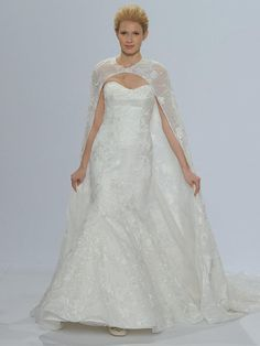 3d19e2c779 Randy Fenoli Spring 2018 strapless trumpet wedding dress with large floral  patterns beaded lace and dramatic