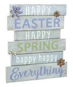 Loving this 'Happy Everything' Wall Plaque on #zulily! #zulilyfinds