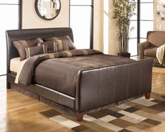 Stanwick Queen Bed by Signature Design by Ashley. Get your Stanwick Queen Bed at Price Busters Furniture, Baltimore MD furniture store. Upholstered Bed Frame, Headboard And Footboard, Design Seeds, Dreams Bed Frames, Bedroom Sets, Bedrooms, Bedroom Decor, Master Bedroom, Palette