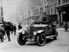 Civil War 1922 (my son and I stayed here on our 2016 Trip. Ireland 1916, Dublin Ireland, Army Vehicles, Armored Vehicles, Irish Free State, Michael Collins, Al Capone, Water Cooling, Rolls Royce