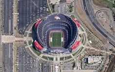 Sports Authority Field at Mile High (Denver Broncos). Collection of all NFL stadium aerials in comments [1,024 × 640]