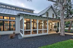 Modern farmhouse screened in porch