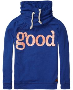 Twisted hood sweater in special quality