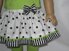 American Girl Doll Clothes  Polka Dot and Stripe by lotsofdots, $16.00