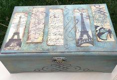 Paris Decoupage Box. Keepsake Box . Jewelry Large Box. Photo Memory Treasury Box. Newlyweds Gift-Box. #decoupage #wedding #etsy #etsyhome #etsylove #etsysale #etsysale #etsyshop #etsydecor #etsyfinds #etsygifts #etsystore #etsyforall #etsyhunter #etsyseller #etsywedding #etsyhandmade #etsyshopowner #etsyundiscovered #unique #handmadeisbetter #shopsmall #gifts #weddinggift #handmadegift  mom