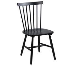 Schwarzer skandinavisch inspirierter Stuhl