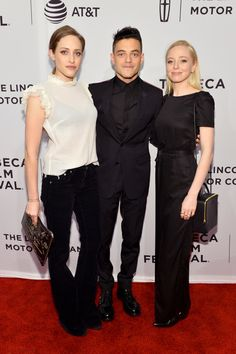 Actors Carly Chaikin, Rami Malek and Portia Doubleday attend the 'Buster's Mal Heart' Premiere during 2017 Tribeca Film Festival.