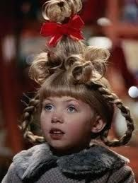 """Cindy Lou Who (played by Taylor Momsen), Christmas Hair from """"How The Grinch Stole Christmas"""" Cindy Lou Who Hair, Cindy Lou Who Costume, Whoville Costumes, Whoville Hair, Christmas Costumes, Seussical Costumes, O Grinch, Grinch Stole Christmas, Grinch Party"""