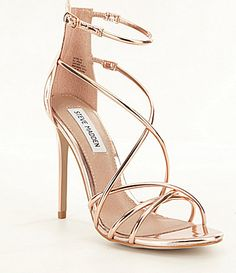 2efdb4e15f00 Steve Madden Satire Dress Shoes  Dillards Rose Gold Strappy Heels