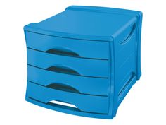 Ladenbox Esselte Vivida 4 laden blauw via #DKVK