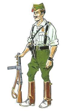 1936-39 Brigada en uniforme de campaña en verano