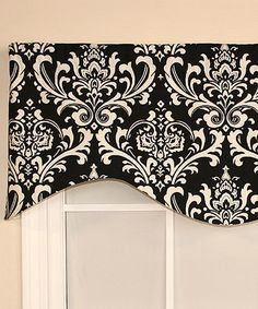 Look what I found on #zulily! Black Regal Medallion Cornice Valance #zulilyfinds