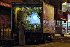 Mobile garden in NYC by Bansky.